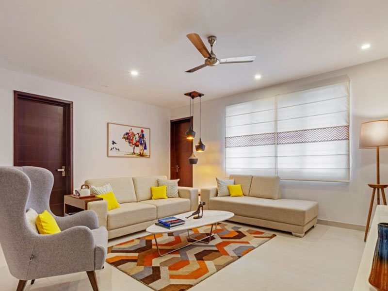 Luxurious living room interior