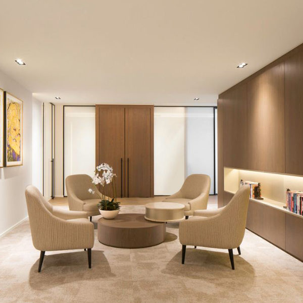 Private commercial office waiting area