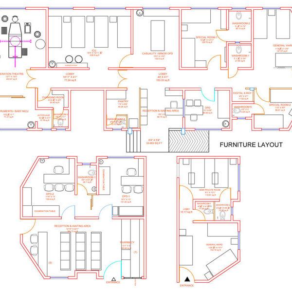 hospital layout at hadapsar