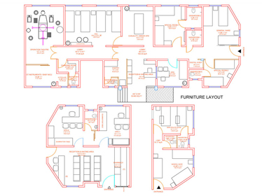 hospital layout at hadapsar